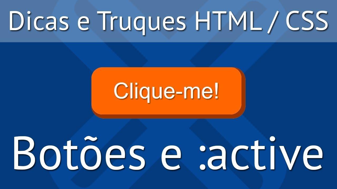Botão CSS que Responde ao Clique