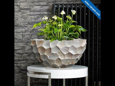 Seashell Planters Pots Mother Of Pearl Big Shell Vase Vietnam