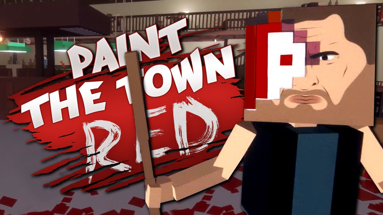 IS THIS MINECRAFT? - Biker Bar Brawl - Paint the Town Red