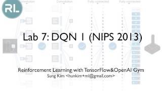 Lab 7-1: DQN 1 (NIPS 2013)