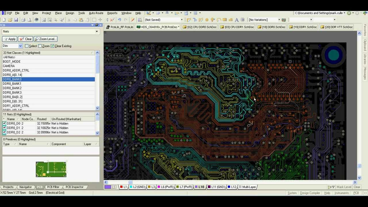 Altium Designer — DDR3 routing and PCB layout video