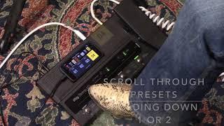IK Multimedia iRig STOMP I/O - USB pedalboard demo with iPhone