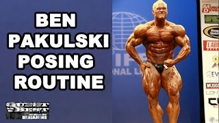Bodybuilder Posing Routine With Ben Pakulski