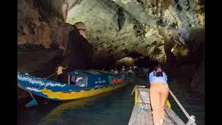 ベトナム・フエの王宮に咲くプルメリアやフォンニャケバン国立公園の洞...
