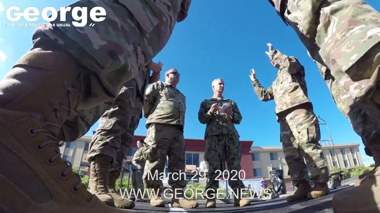 California State Guard medics strike COVID-19 presence, March 29, 2020