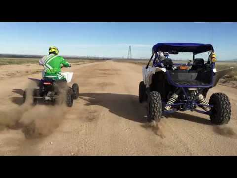 Speed Run Yamaha YFZ450R vs YXZ1000R - YouTube