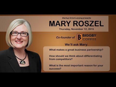 Mary Roszel (Biggby Coffee) at Startup Grind Lansing - You c