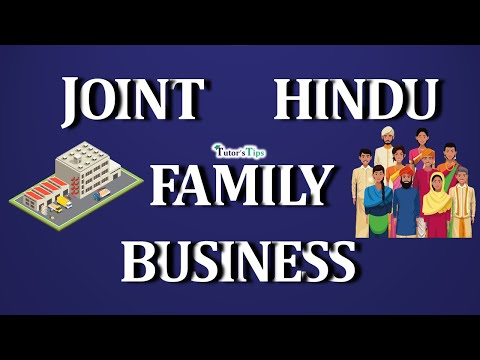 0 - What is Joint Hindu Family Business and its Characteristics?