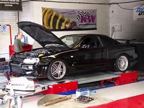Skyline R34 GTT stage 1 tuned dyno run