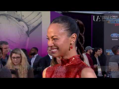 Zoe Saldana on Sisterhood at the Guardians of the Galaxy Vol. 2 Red Carpet Premiere