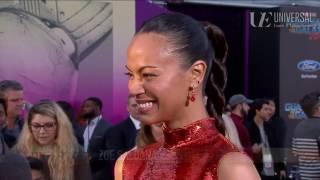 Zoe Saldana on Sisterhood at the Guardians of the Galaxy Vol. 2 Red Carpet Premiere