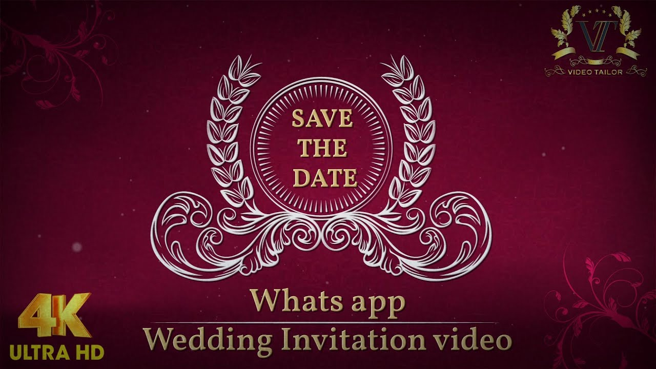 Animated Whatsapp Wedding Invitation Video : VTSD036 - YouTube