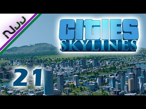 Cities Skylines - 21 - How to Cargo Train Terminal plus New High Traffic Offramp!