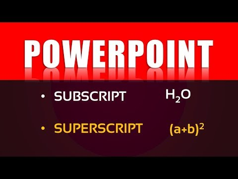 Microsoft PowerPoint - Superscript And Subscript
