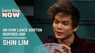 Shin Lim Stuns Larry King With a Card Trick
