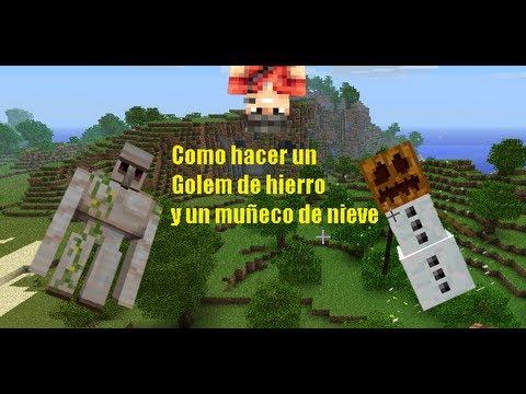 Minecraft 1 5 2 como hacer un golem de hierro y un mu eco for Como hacer muebles en minecraft