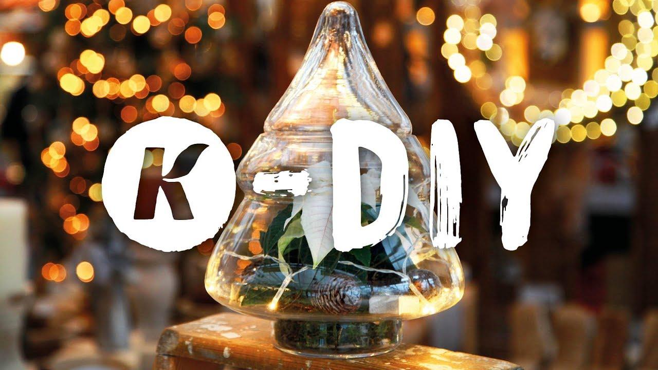Diy Deko Idee Weihnachtsstern Mit Lichterkette In Vase