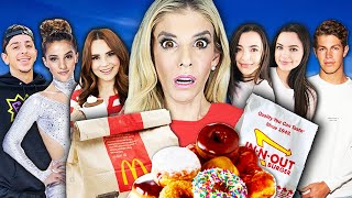 Letting YOUTUBERS Decide What I EAT for 24 HOURS Challenge! (Creepy Doll in Funny Situations)