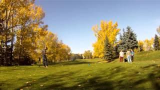 golf cart crashes into water hazard fail