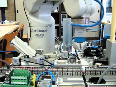 Festo robot- Mitsubishi RV-2AJ - YouTube