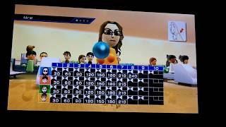 Wii Sports Bowling: 4 Players (All Perfect Games!)