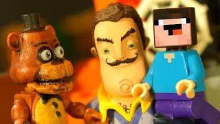 ПОРТАЛ в Мир ФНАФ и Лего НУБик Майнкрафт Мультики Пять Ночей с Фредди - FNAF и LEGO Minecraft