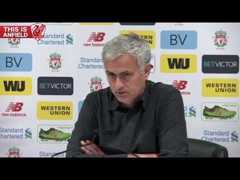 Liverpool 0-0 Man United: Jose Mourinho post-match press conference