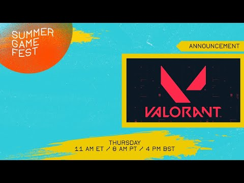 VALORANT Update and Announcement (Thursday, 11 am ET / 8 am PT)