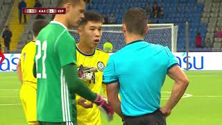 Видеообзор матча Казахстан U 21 0 1 Испания U 21