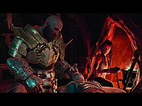 God of War - Freya and Kratos Heal Atreus