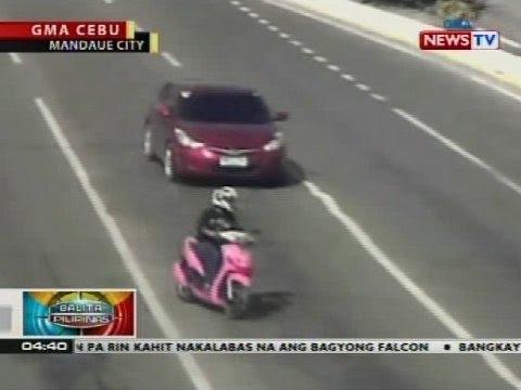 Hulicam: Motorsiklo, bumangga sa isang kotse sa Mandaue City