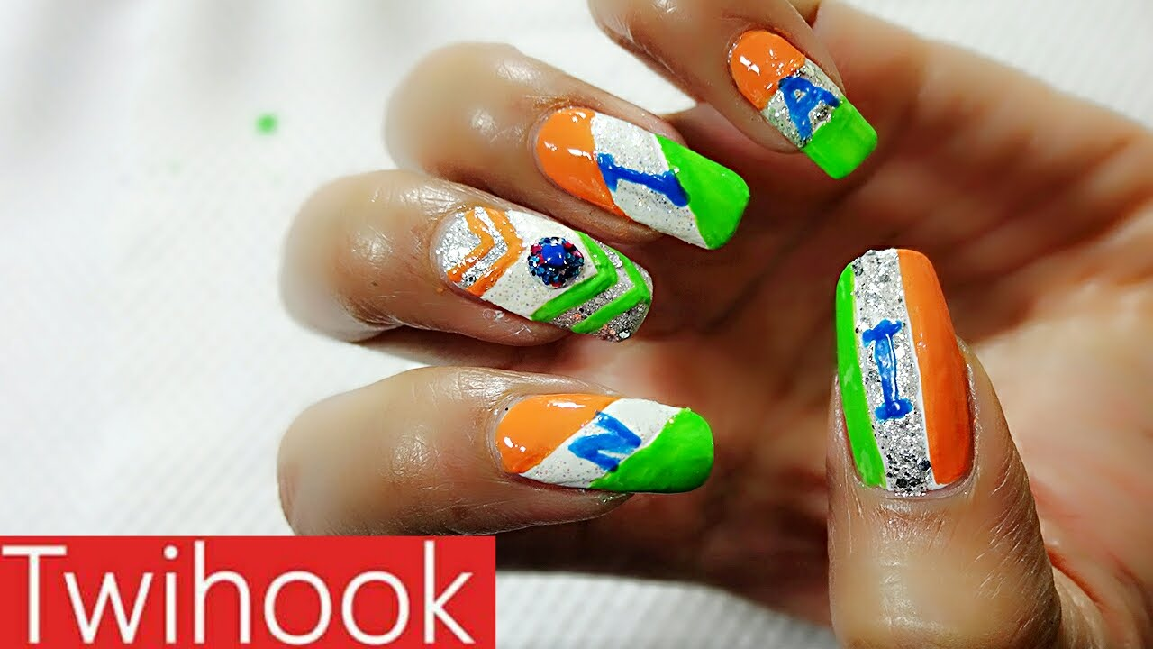 India independence day theme nail art by priyanka youtube india independence day theme nail art by priyanka prinsesfo Gallery