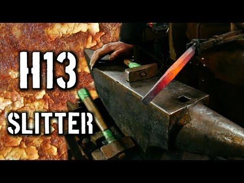 Forging a H13 Slitter (Forging Blacksmithing Tools)