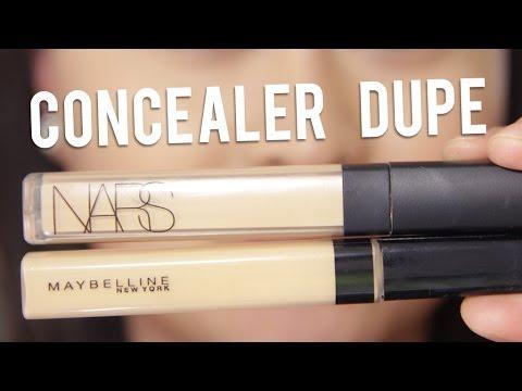 NARS Radiant Creamy Concealer VS Maybelline Fit Me Concealer - YouTube