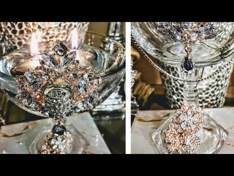 Dollar Tree Luxurious Bling Centerpiece Vases| DIY Centerpiece