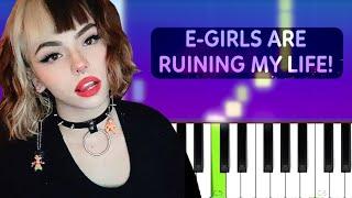 Corpse - E-GIRLS ARE RUINING MY LIFE! ft. Savage Ga$p  (Piano tutorial)