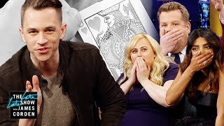 James Corden welcomes magician Justin Flom, competing on The World's Best, to perform some insane card tricks that leave Priyanka Chopra Jonas, Rebel Wilson and The Late Late Show audience stunned. You might want to grab a friend and a deck of cards to try one of the tricks yourself.  Watch Justin Flom's audition on The World's Best: https://www.youtube.com/watch?v=p61AaG3wd20  More Late Late Show: Subscribe: http://bit.ly/CordenYouTube Watch Full Episodes: http://bit.ly/1ENyPw4 Facebook: http://on.fb.me/19PIHLC Twitter: http://bit.ly/1Iv0q6k Instagram: http://bit.ly/latelategram  Watch The Late Late Show with James Corden weeknights at 12:35 AM ET/11:35 PM CT. Only on CBS.  Get new episodes of shows you love across devices the next day, stream live TV, and watch full seasons of CBS fan favorites anytime, anywhere with CBS All Access. Try it free! http://bit.ly/1OQA29B  --- Each week night, THE LATE LATE SHOW with JAMES CORDEN throws the ultimate late night after party with a mix of celebrity guests, edgy musical acts, games and sketches. Corden differentiates his show by offering viewers a peek behind-the-scenes into the green room, bringing all of his guests out at once and lending his musical and acting talents to various sketches. Additionally, bandleader Reggie Watts and the house band provide original, improvised music throughout the show. Since Corden took the reigns as host in March 2015, he has quickly become known for generating buzzworthy viral videos, such as Carpool Karaoke.""