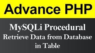Retrieve Data from Database in Table MySQLi Procedural in PHP (Hindi)