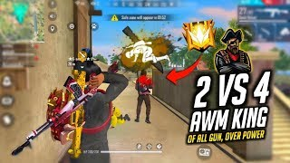 Duo vs Squad Situation 2 AWM Best AWM Gun Ka Badshah Gameplay - Garena Free Fire
