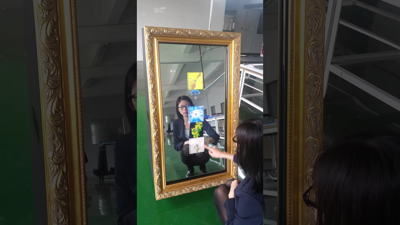 Customized photo booth with small touch screen screen high-end quality  selfie mirror