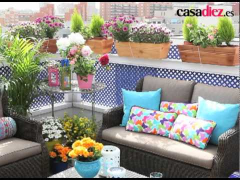 Decorar la terraza youtube for Ideas terrazas economicas