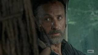 Rick and Michonne - 'I can't lose you' The Walking Dead Season 7 episode 12