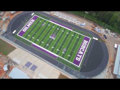 Gilmer County High School's New Astro Turf DT Synthetic Turf Field