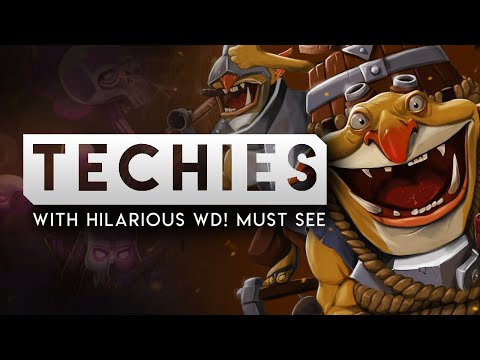 DOTA 2-- TECHIES with hilarious Witch Doctor-- MUST SEE
