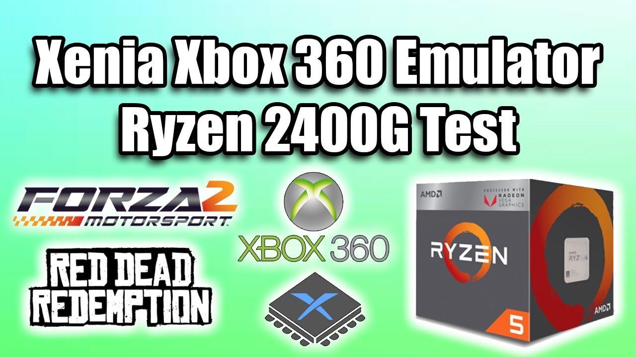 Ryzen 2400G Xenia Xbox 360 Emulator Test - It Did Not Go Well!