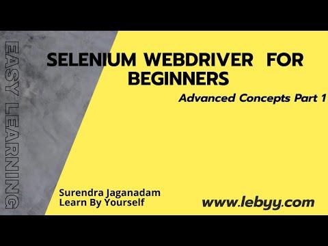 Selenium Webdriver Advanced concepts part 1