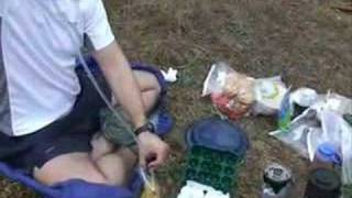 Scrambled Eggs and Sausage on a Backpacking trip