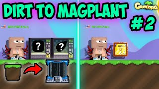 29 WL to 66 WL in 2 STEPS (EASY PROFIT) !! | #2 Dirt to Magplant | Growtopia