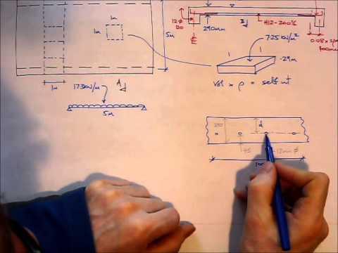 RC Slab Design EC2 - Worked example - Bending reinforcement