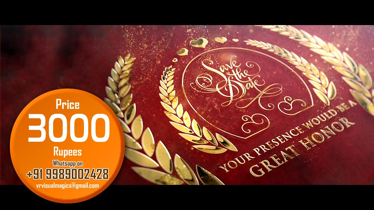 Best || Indian || cinematic || Wedding Invitation video || Save The ...